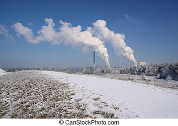 power plant Boxberg in winter 01