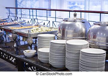 Buffet, tabla, Dishware