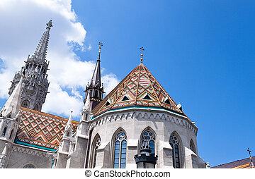 hungary, budapest, matthias church. - the matthias church in...
