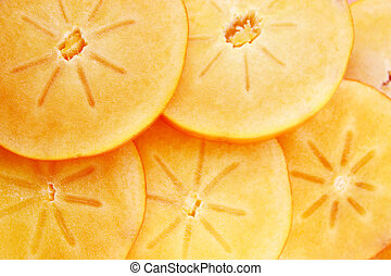 persimmon fruit slices