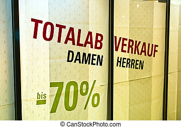total sales in clothing store