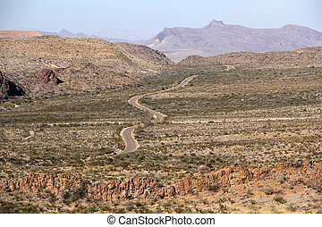 Ross Maxwell Scenic Drive, Big Bend National Park, Texas