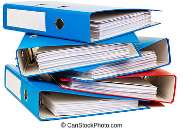 file folder with documents and documents storage contracts
