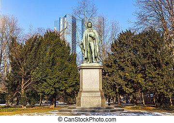 standbeeld, Friedrich, Schiller, Frankfurt