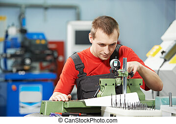 worker checking tool with optical device