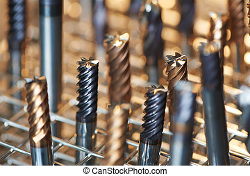 heap of finished metal drills - heap of finished metal...