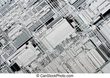 Inside Microprocessor Architecture - Low Scale Magnification...