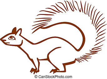 Fox Squirrel - stylized vector illustration of a fox...