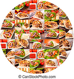 Gyros circle - Bunch of gyros in circle