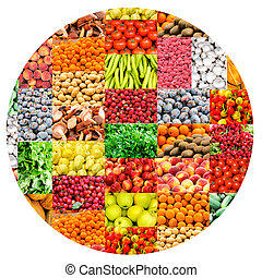 Vehetables and fruit - Bunch of vegetables and fruits