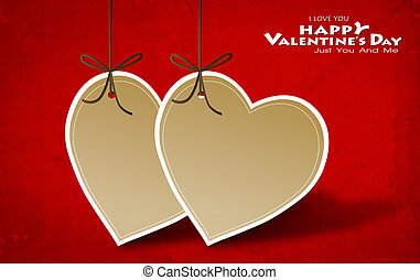 Valentine's day card with Heart Paper