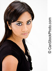 Beautiful Hindi woman - Face of a beautiful Hindi woman with...