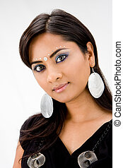 Beautiful Hindi woman - Beautiful woman with rhinestones and...