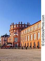 The palace of Wiesbaden Biebrich, Germany