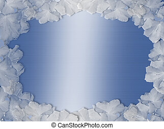 Blue and white Wedding Border