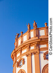 The palace of Wiesbaden Biebrich, Germany - The palace of...