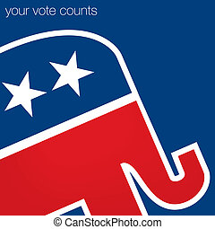 "Republican - ""Your Vote Counts"" Republican American election..."