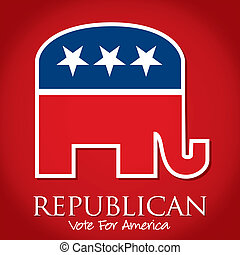 Republican - Republican Vote For America election cardposter...
