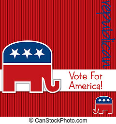 Republican - Vote for America Republican election cardposter...