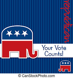 Republican - Your Vote Counts Republican election cardposter...
