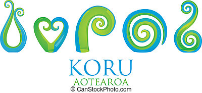 Koru - A set of glass Maori Koru curl ornaments.