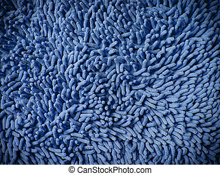 Texture of blue microfiber fabric