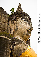 The Ruins of an Image of Buddha