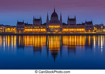 Parliament building, Budapest - Parliament building at...