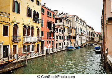 View of channel in Venice