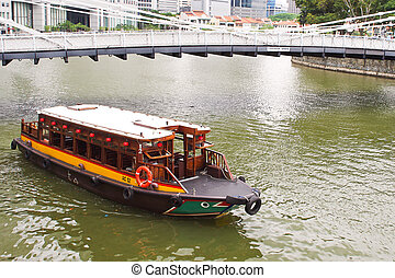 Boat on Singapore River