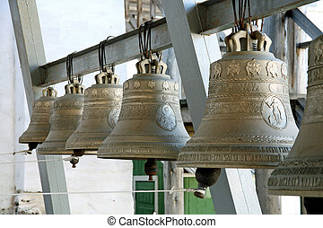 Belfry   - Bells in a friary on the Solovetsky Islands