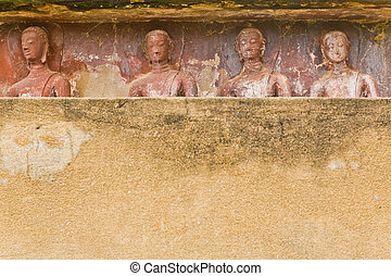 The background of images of Buddha