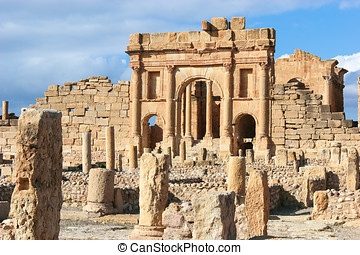 Roman ruins of Sufetula, Tunisia - Roman ruins of Sufetula...