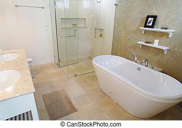 modernos, banheiro