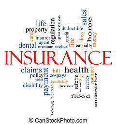 Insurance Word Cloud Concept with great terms such as and...