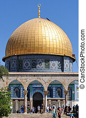 Temple Mount and Dome of the Rock in Jerusalem Israel -...