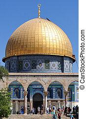 templo, monte, cúpula, roca, jerusalén, israel