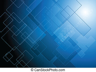Abstract technical background - Bright blue tech background....