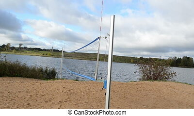 volleyball net lake water