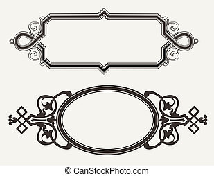 Two Vintage Ornate Engraving Frames