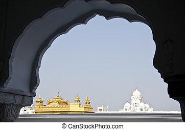 Sikh gurdwara Golden Temple Amritsar, Punjab, India - Sikh...