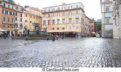 fountain trastevere - Fountain of the Basilica of Our Lady...