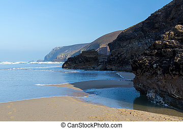 Chapel Porth - The beach at Chapel Porth on the North Coast...