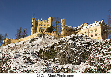 Hohenschwangau Castle in winter - Hohenschwangau Castle in...