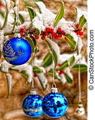 Blue balls - Blue christmas decorations