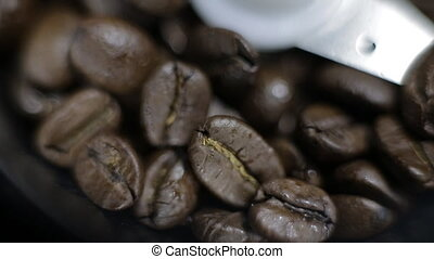 Coffee Grinder panorama - electric coffee grinder macro...