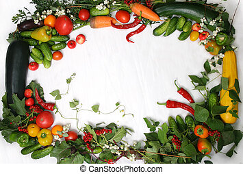 Frame Vegetables - Full frame of a broad variety of Berries...