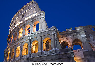 Rome Coliseum close up - Italy Older amphitheater - Coliseum...