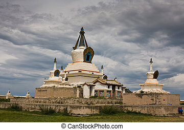Stupa at Karakorum Monastery Mongolia - Stupa at ancient...