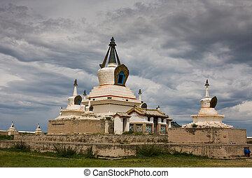 Stupa at Karakorum Monastery Mongolia - Stupa at ancient...